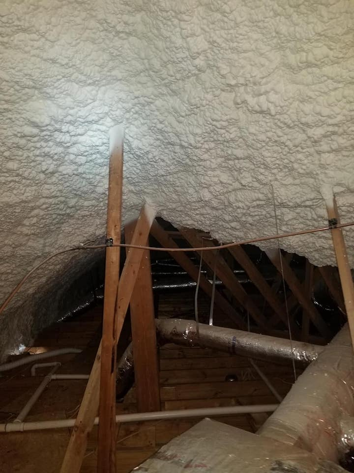 Spray Foam Attic Insulation Houston Texas Job 1