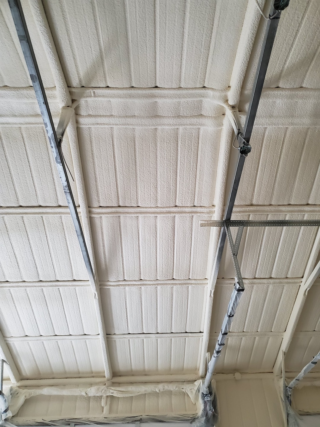 Metal Building Foam Insulation Installed